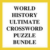 World History Ultimate Crossword Puzzle Bundle