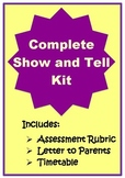 Complete Show and Tell Kit {Rubric to assess presentation