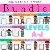 Complete Sight Words Bundle Levels A-J
