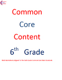 Complete Sixth Grade Common Core Math Worksheets All Standards