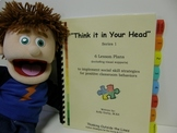 """Complete Social Skill Lesson """"Think it in Your Head"""" with Visual Supports"""