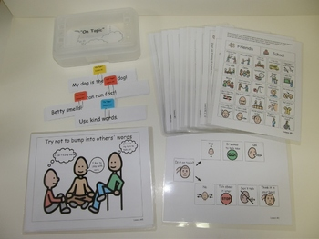 """Complete Social Skills Unit with visual supports :Think it in Your Head"""""""