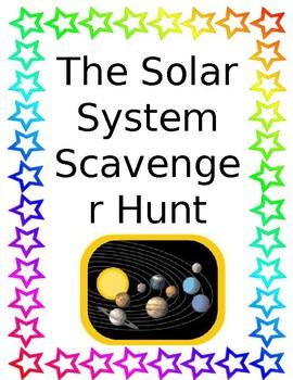 Complete Solar System Scavenger Hunt