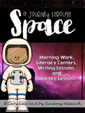 Complete Space Unit - Science Lessons, Literacy Centers, W