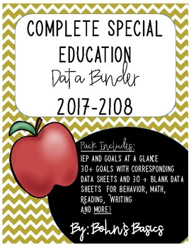 Complete Special Education Data Binder Pack