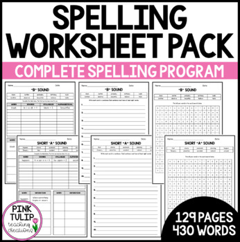 Year Long Spelling Workbook - Graphemes and Phonemes