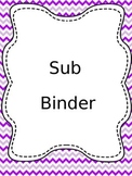 Complete Sub Binder-Chevron.EDITABLE