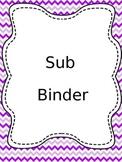 Complete Sub Binder-Chevron.EDITABLE