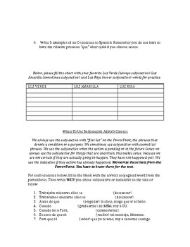 Complete Subjunctive Study Guide (all tenses and uses)
