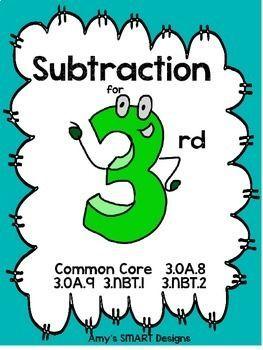 Complete Subtraction Unit 3rd Grade