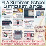 ELA Summer School Curriculum Bundle-Grades 6-8! CCSS Aligned! Digital/Printable