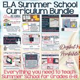 ELA Summer School Curriculum Bundle - Grades 6-8  Digital for Distance Learning