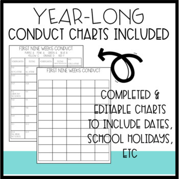 Complete Take-Home Folders: Includes (Un)Homework & Conduct Charts for the Year!