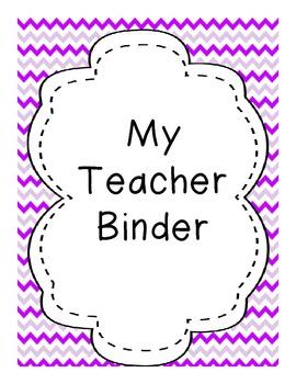 Complete Teacher Binder-Chevron
