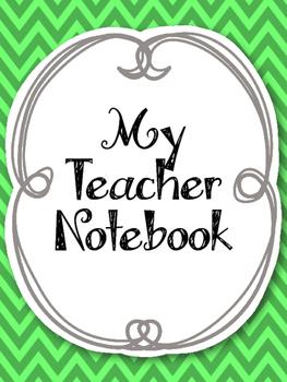 Complete Teacher Notebook! Planner Cute Green and Gray. Arc Binder Spiral Bound