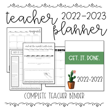 Complete Teacher Planner/Binder 2017-2018