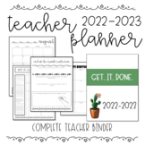 EDITABLE Complete Teacher Planner/Binder 2018-2019 (With F