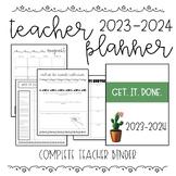EDITABLE Complete Teacher Planner/Binder 2020-2021 (With F