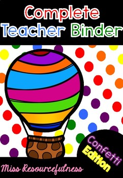 Complete Teacher's Binder - Spotty Edition
