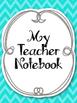 Complete Teacher's Notebook Kit! Planner Arc Binder Notebook Spiral Bound Blue