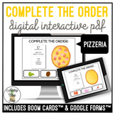Complete The Order - Pizzeria Digital Interactive Activity
