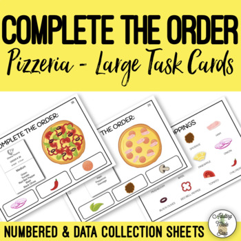 Complete The Order - Pizzeria Large Task Cards