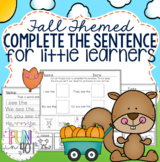 Learning to Write: Fall Themed for Kindergarten