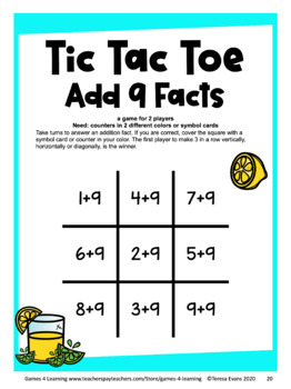 Tic Tac Toe Basic Facts Fluency: Math Games Bundle