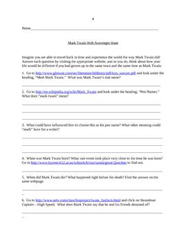 Complete Tom Sawyer Unit - 10 Lesson Plans, Project (Puppet Show!)