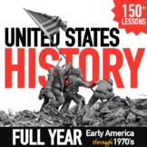 Complete US History Curriculum Early America to 1970's Bundle GOOGLE DRIVE LINK