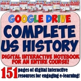 US History Google Drive Digital Notebook Bundle for Distan