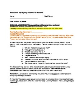 Complete Unit Documents for Book Clubs and Literary Analysis Book