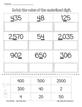 Complete Unit of Place Value and Rounding to 10s and 100s for 3rd grade math