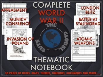 WWII: Thematic Notebook Complete Bundle
