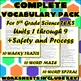 Complete Vocabulary Pack for Fifth Grade Science TEKS