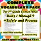 Complete Vocabulary Pack for Seventh Grade Science TEKS