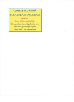Complete Vocabulary Program -28 Weeks-Roots, Prefixes and