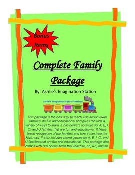 Complete Vowel Family Package