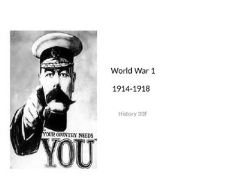 Complete WW1 (World War 1)History  PowerPoint