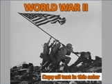 The Complete World  War II PowerPoint Unit