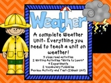 Weather Unit Close Reads, Experiments, Vocabulary, and Wri
