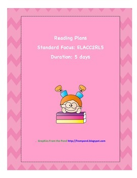 Week of Lessons for Reading Standard ELACC2RL5