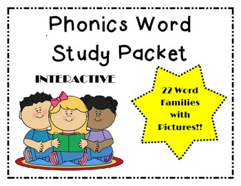 Complete Word Family Packet--5 Weeks of Work!!