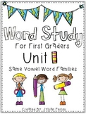 Words Their Way Aligned Lessons and Activities for 1st Graders Unit 1