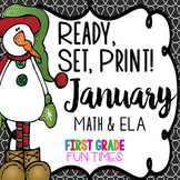 Winter Ready, Set, Print January  | New Years Activities 2020