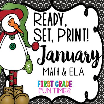 Winter Activities ELA and Math Ready, Set Print