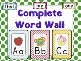 Complete Word Wall: Polka Dots (sight words too!)