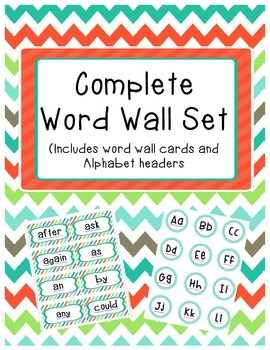 Complete Word Wall Set: 1st grade Dolch sight word cards a