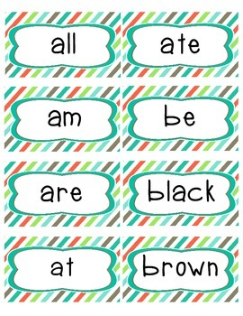 Complete Word Wall Set: Primer Dolch Sight Word Cards and ABC headers