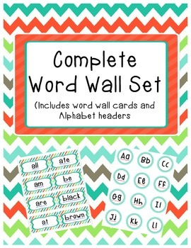 Complete Word Wall Set: Primer Dolch Sight Word Cards and